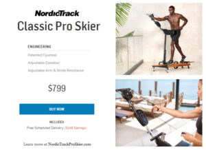 NordicTrack Pro ski machine with free delivery for a limited time
