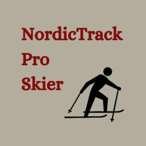 NordicTrack Pro Skier Logo Red font