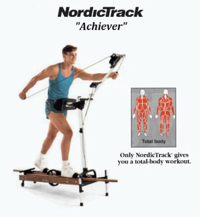 NordicTrack Achiever from 1992 Print Ad