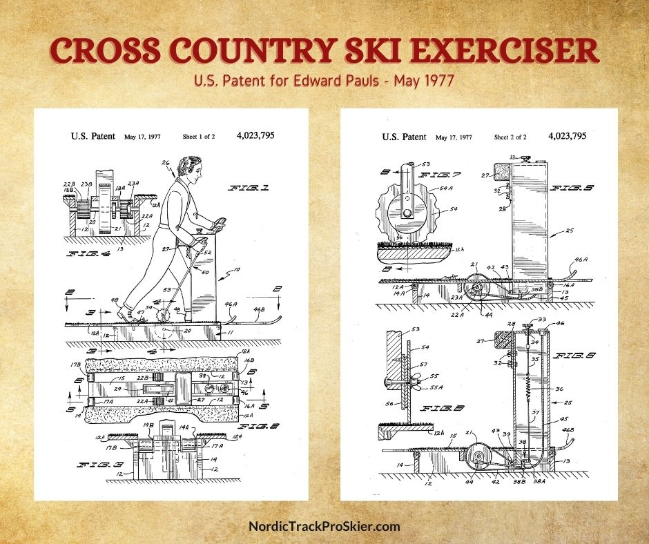 Cross Country Ski Exerciser Patent Drawings NordicTrack