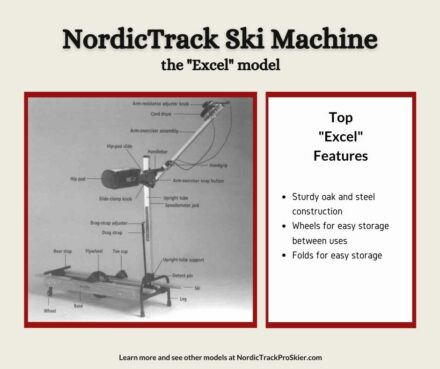 NordicTrack Excel Ski Machine Features