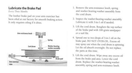 NordicTrack Maintenance Lubricate Brake Pad - NordicTrackProSkier.com