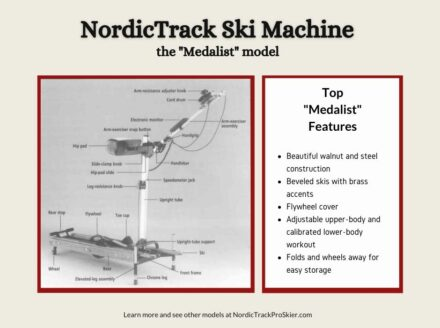NordicTrack Medalist Ski Machine Features