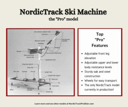 NordicTrack Pro Ski Machine Features